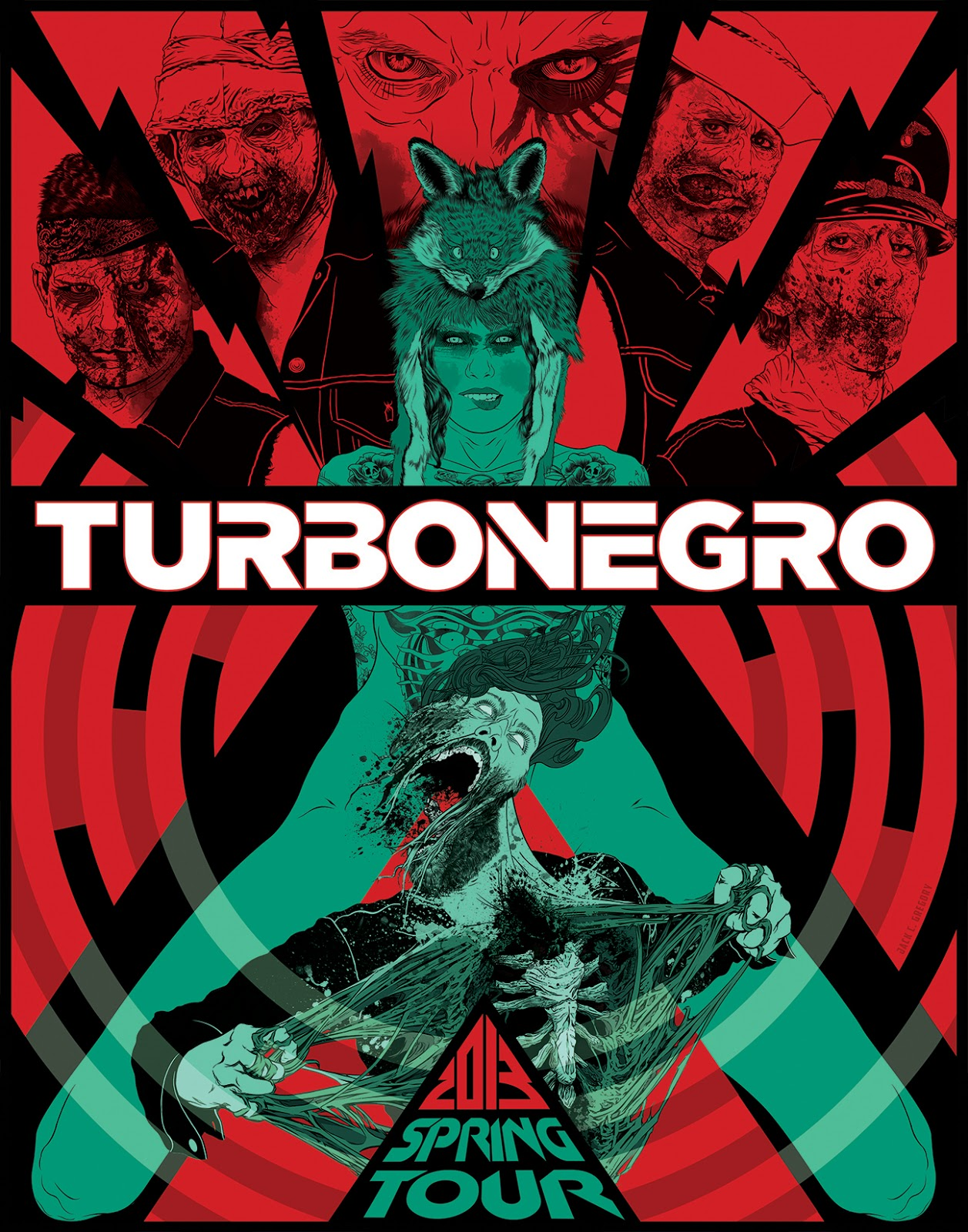 b41c1af1b4 The Agony and the Ecstasy  Turbonegro 2013 Tour Poster + 7