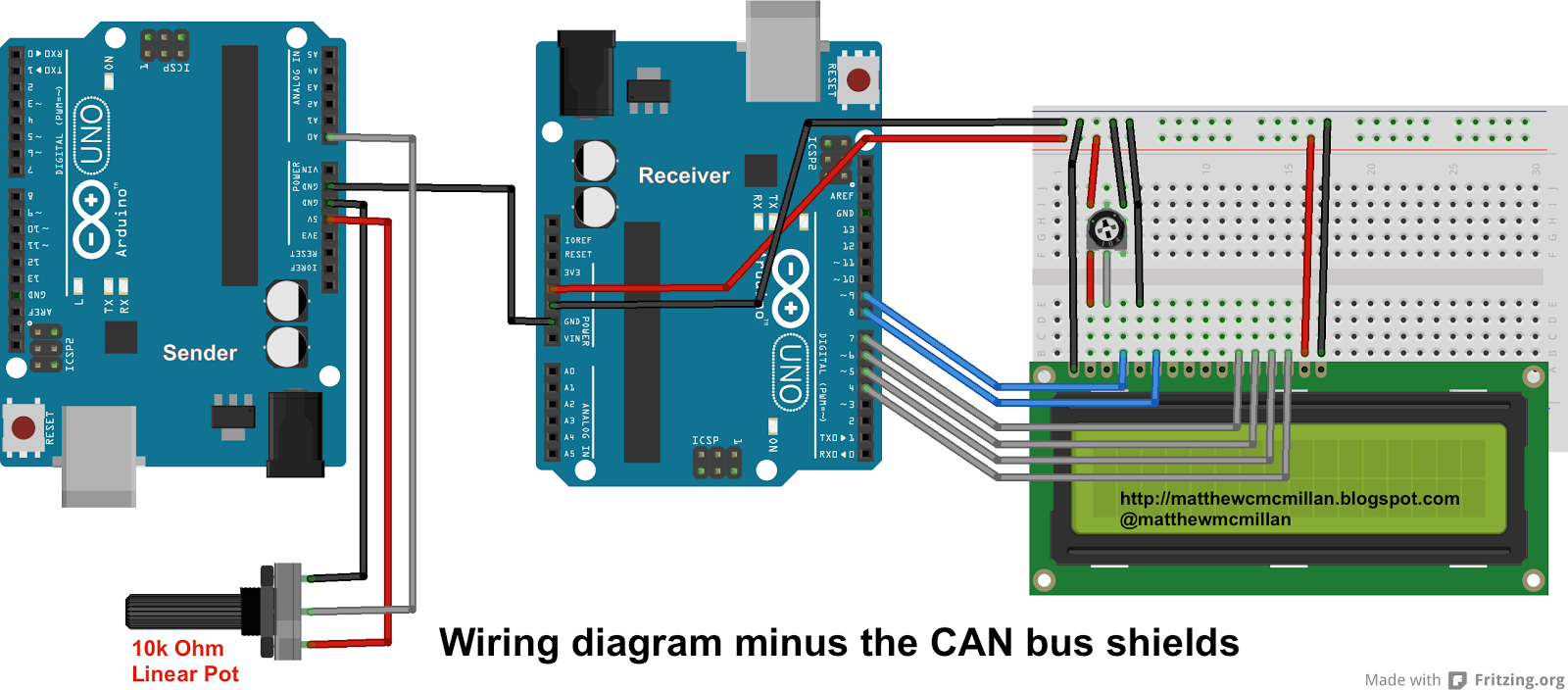 Matthew McMillan: Arduino  Sending data over a CAN bus