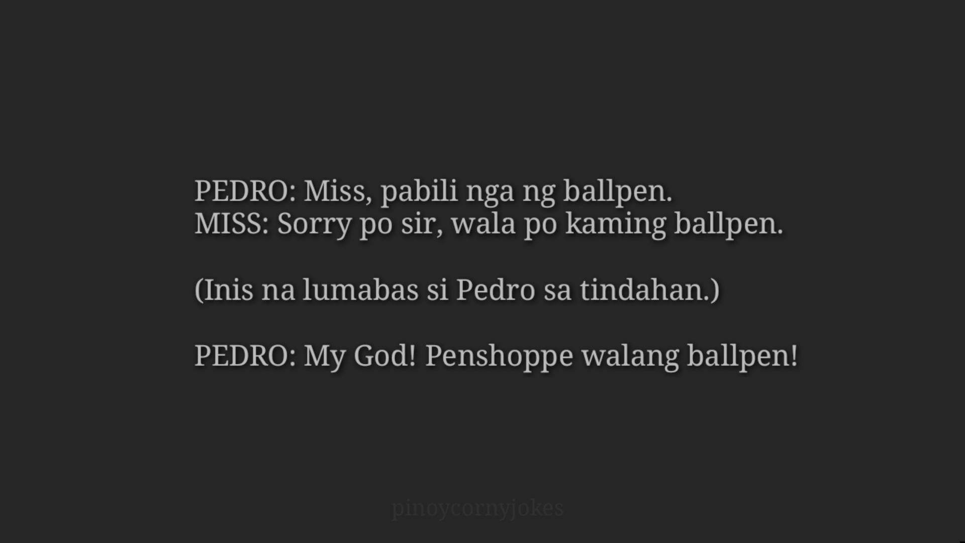 Pinoy Jokes - Pabili ng Ballpen