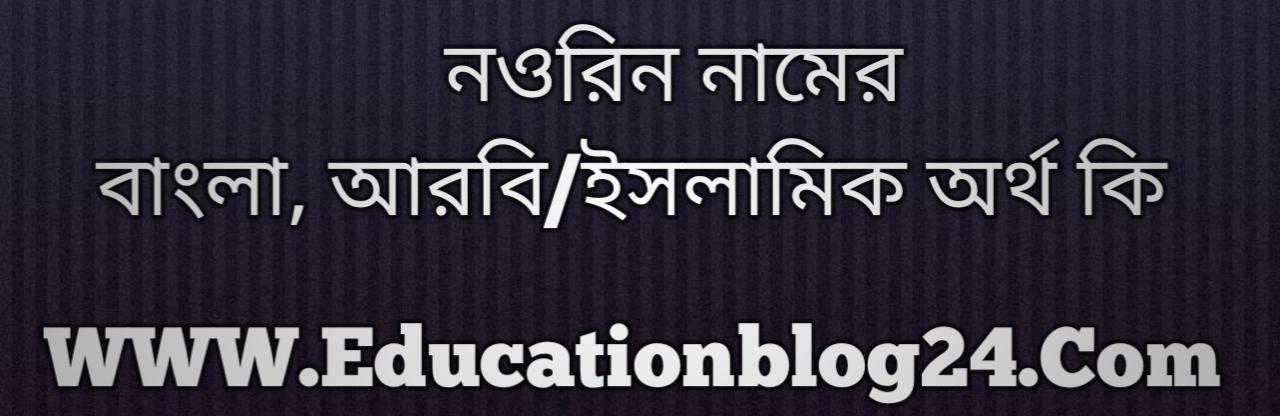 Nourin name meaning in Bengali, নওরিন নামের অর্থ কি, নওরিন নামের বাংলা অর্থ কি, নওরিন নামের ইসলামিক অর্থ কি, নওরিন কি ইসলামিক /আরবি নাম