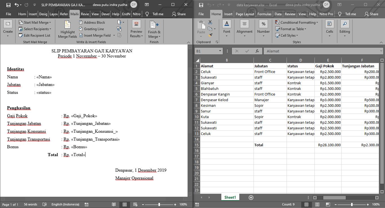 Mail Merge Microsoft Office Tutorial Cara Menggunakan Dan Membuat Mail Merge Ladangtekno