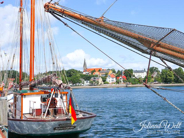 Der Hafen von Eckernförde an der Ostsee