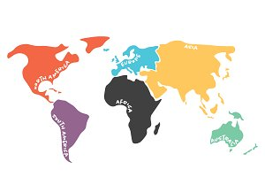 facts of world continents
