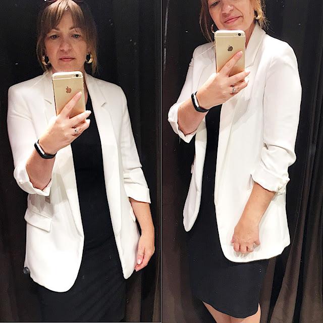 white blazer zara