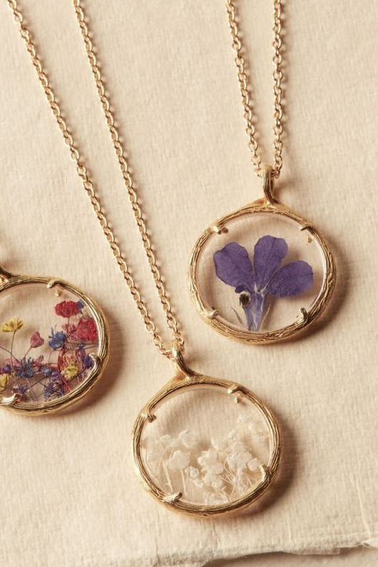 Pressed Flower Necklace From BHLDN