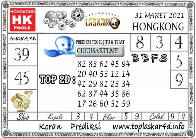 Prediksi Togel HONGKONG LASKAR4D 31 MARET 2021