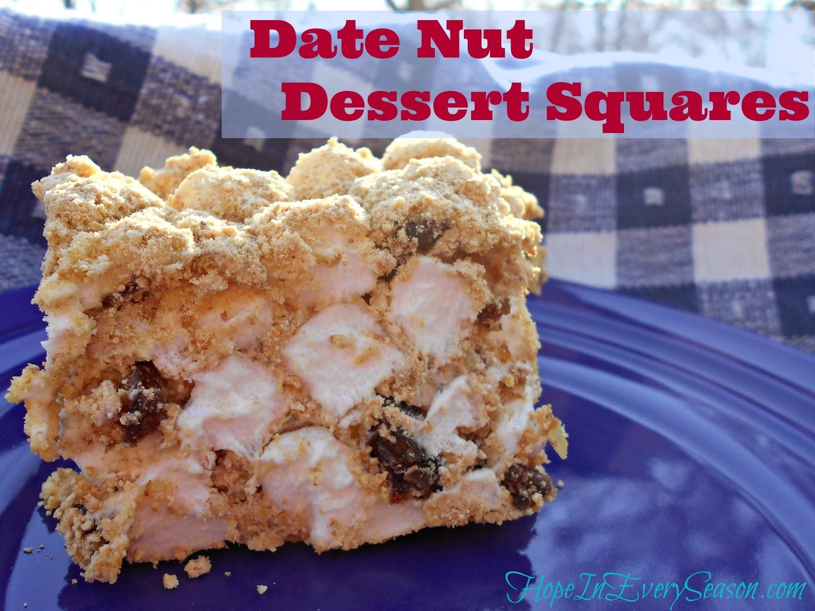 date nut dessert squares