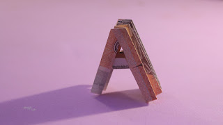 money origami 3d alphabet A chữ A bằng tiền giấy