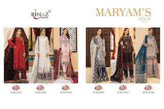 Rinaz Fashion Maryam Gold vol 7 Pakistani Suits