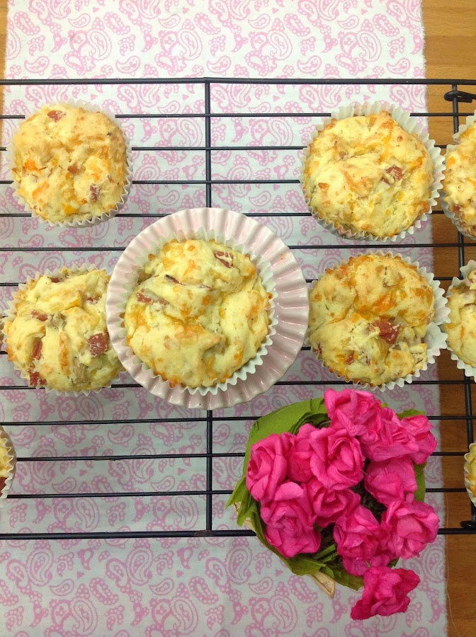 Muffins de jamon york y queso de Patty's Cake