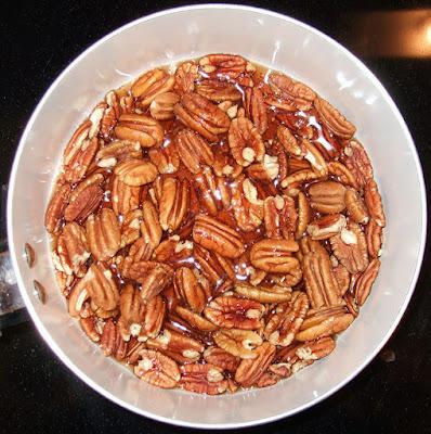 Maple-glazed pecans.