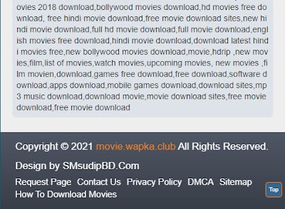Movie Review Theme Footer