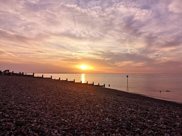 Sunset at Tankerton Beach