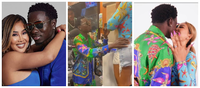 Welcome to Elizabeth's Blog: Moment Comedian Michael Blackson proposes to his  girlfriend, Rada during a radio show (video)