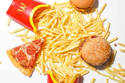 Healthy food vs junk food chart