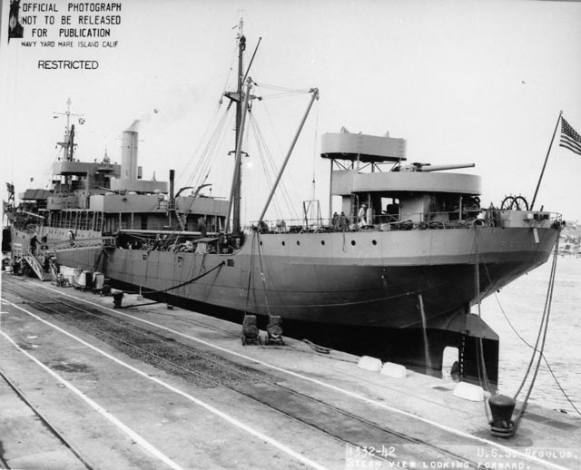 USS Regulus on 13 March 1942 worldwartwo.filminspector.com
