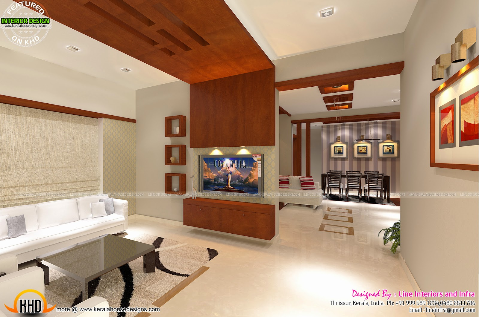 Annabella 67 Art Line Design : Interiors design by line and infra kerala home