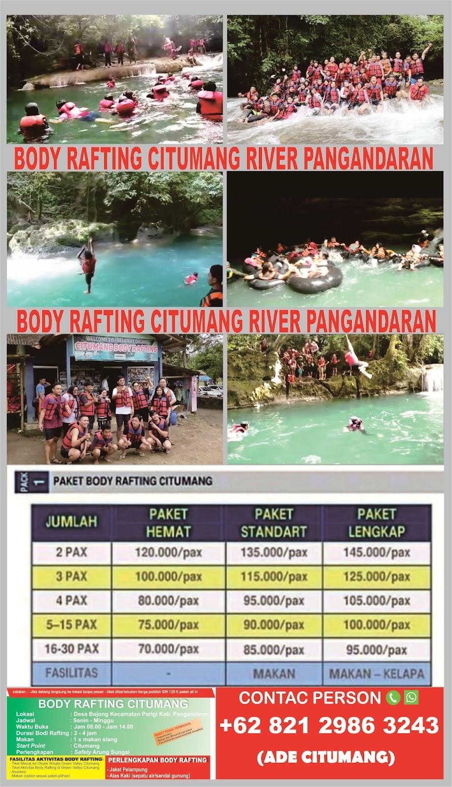 BODY RAFTING CITUMANG RIVER PANGANDARAN