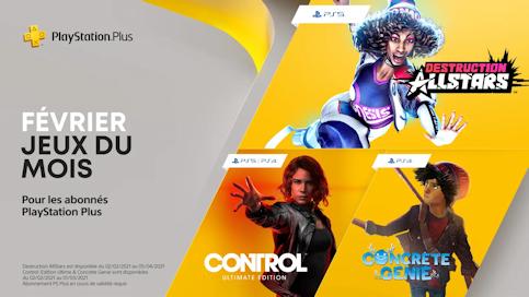 Les trois nouveaux jeux gratuits PlayStation PLus de février 2021