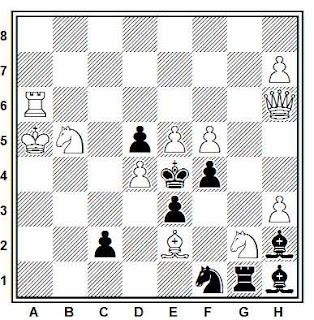 Problema de mate en 2 compuesto por Hubert Gockel (1º Premio, Jubilé G. Bakcsi-60 1993-94)