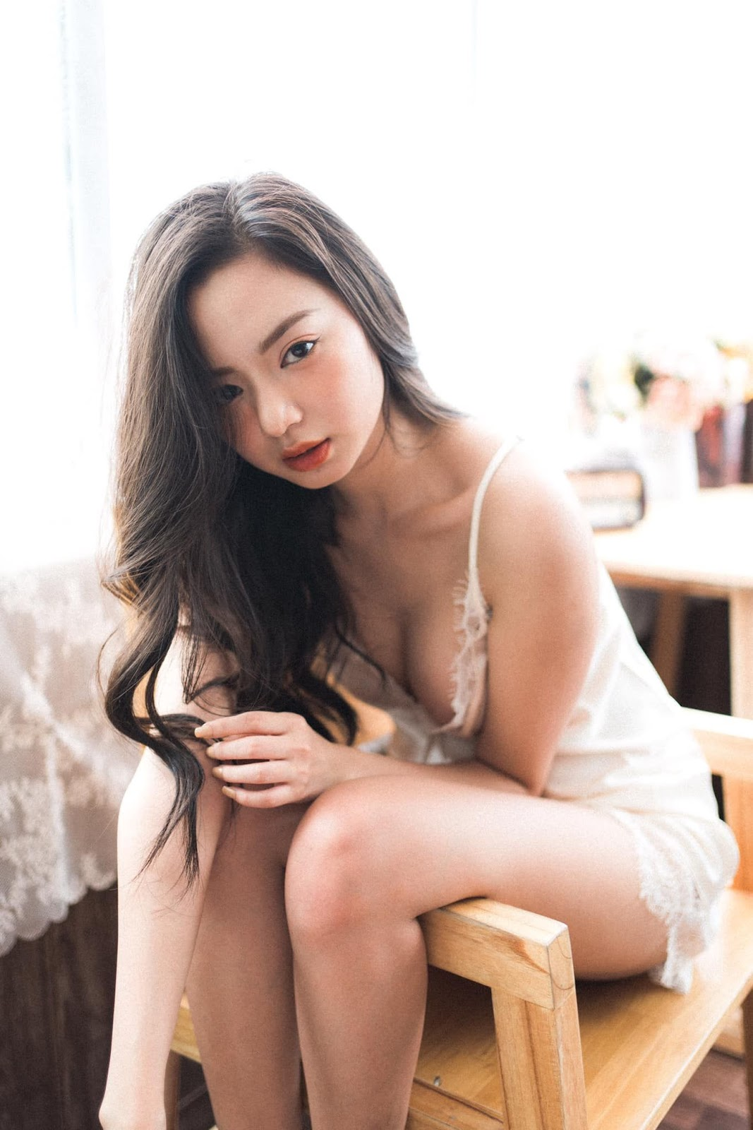 Vietnamese Sexy Model - Vu Ngoc Kim Chi - Beautiful in white - TruePic.net- Picture 23