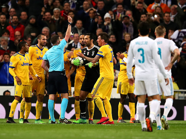 Cristiano Ronaldo reacts to controversial Real Madrid penalty vs Juventus