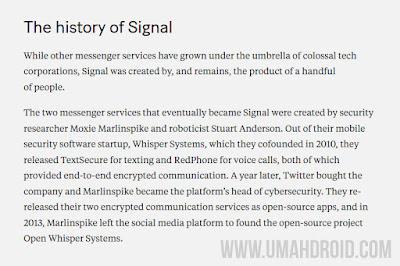 Sejarah Terciptanya Aplikasi Signal