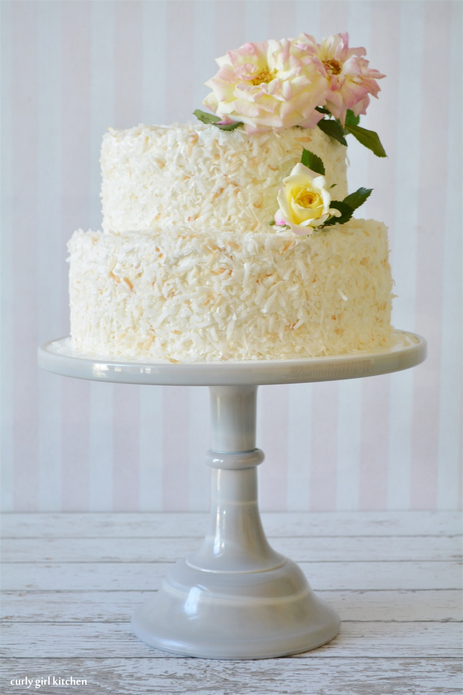 Curly Girl Kitchen  White Chocolate Coconut Cake White Chocolate Coconut Cake