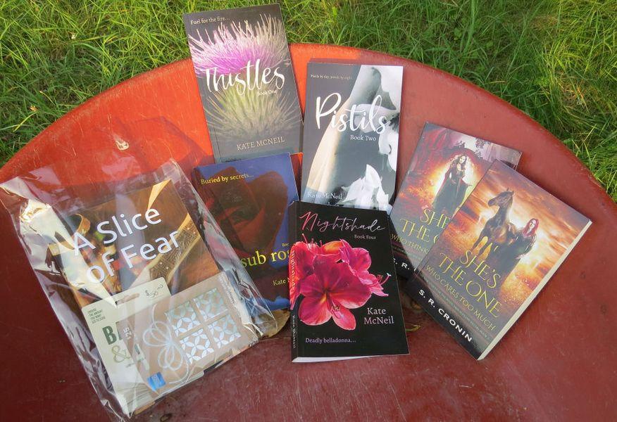 wheelbarrow with books