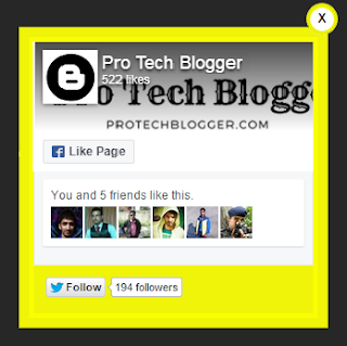 Add Facebook Page Plugin Popup Like Box to Blogger Blogspot