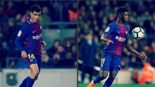 مدرب برشلونة يتمسك بكوتينيو وعثمان ديمبيلي