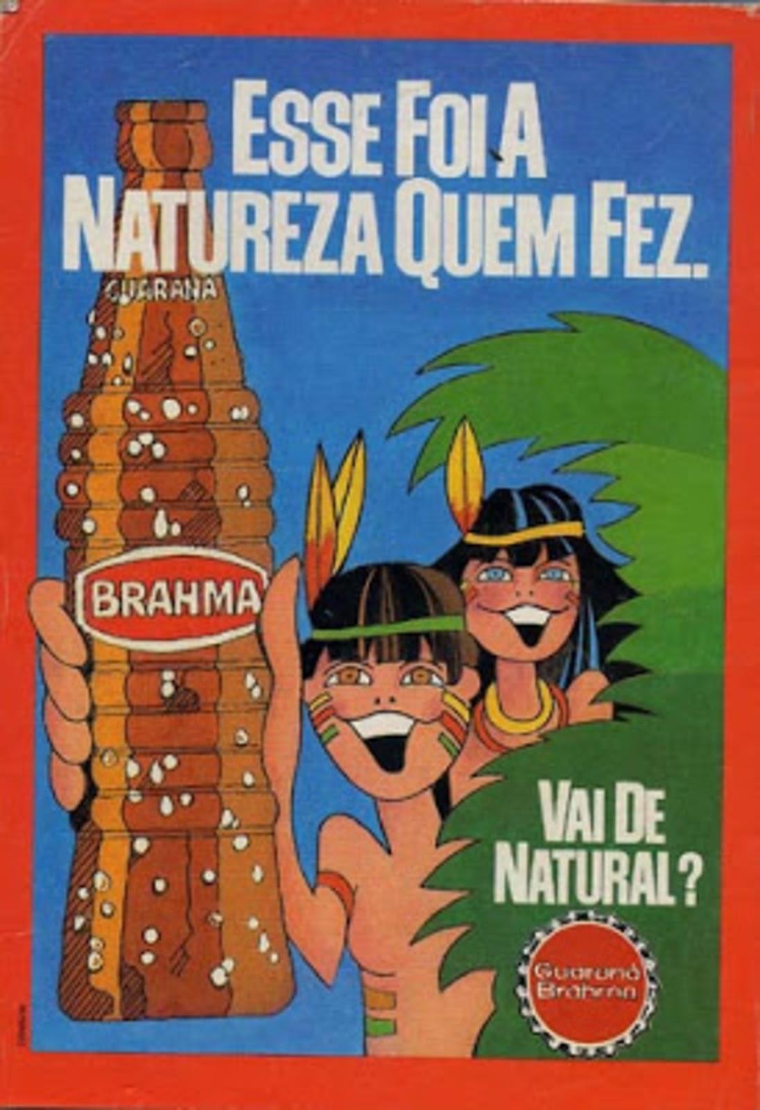 Propaganda antiga do Guaraná Brahma veiculada nos anos 70