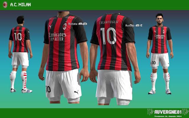 Pes 2013 Ac Milan 20 21 Kits Kazemario Evolution