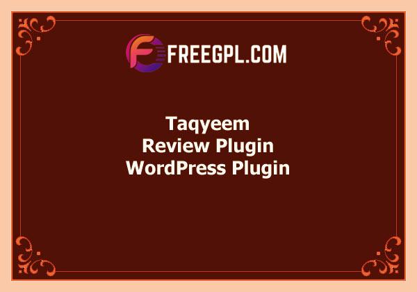 Taqyeem – WordPress Review Plugin Free Download