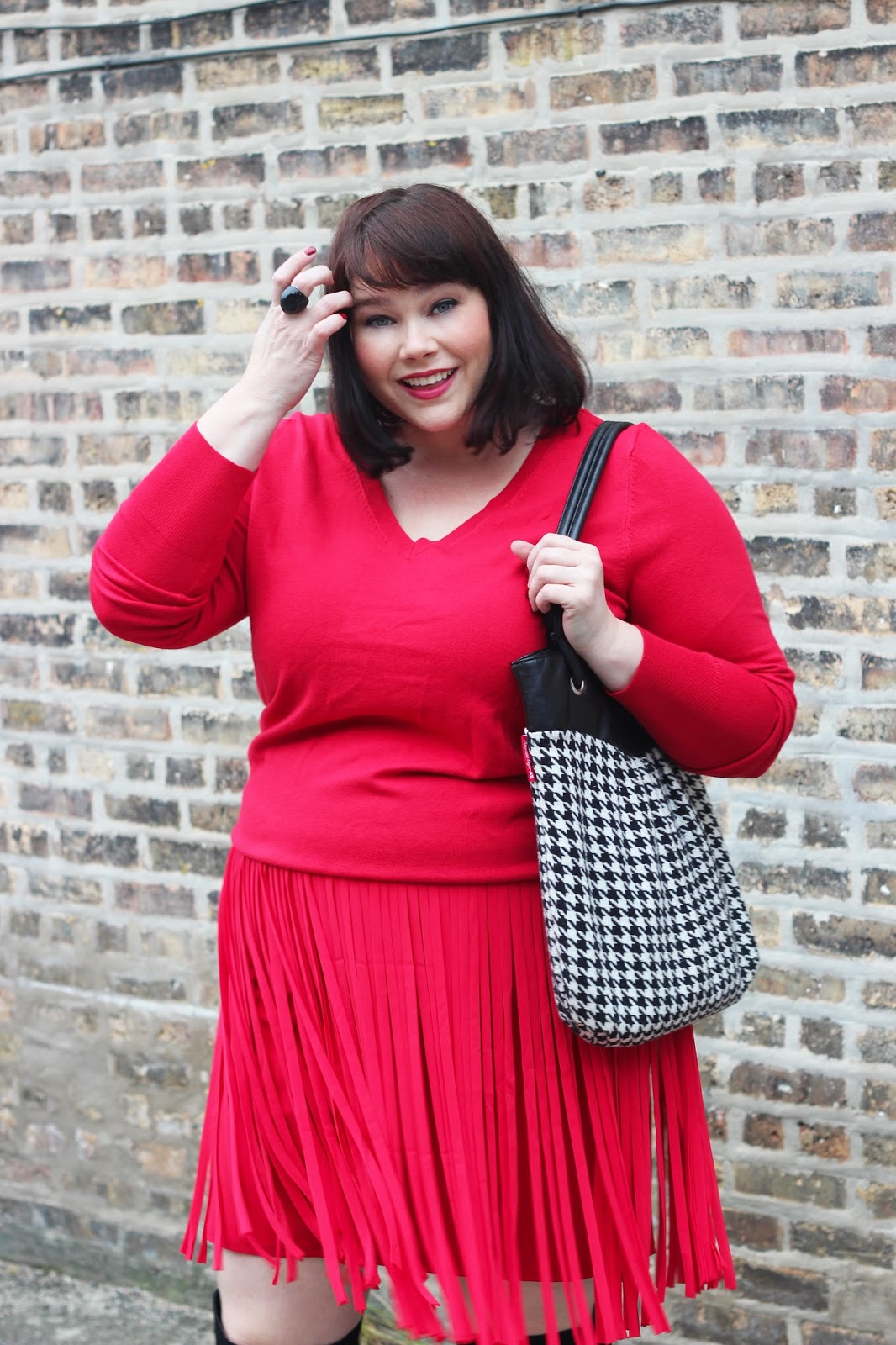 Falling For Fringe In This Red Fringe Skirt From Lane