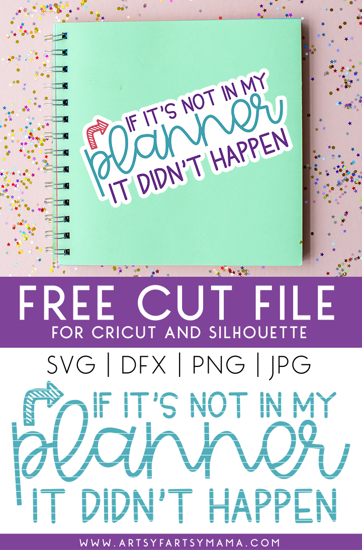 Free Planner SVG Cut File