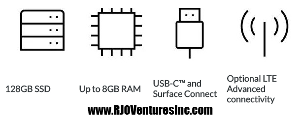 Microsoft Surface Go - Tablet - Pentium Gold 4415Y 64 GB - www.RJOVenturesInc.com 786-208-1529