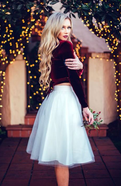 The best fabulously festive christmas party outfits for Dresses to wear to a christmas wedding