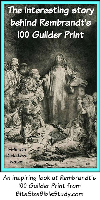 Rembrandt's painting, Matthew 19, story behind 100 guilder print
