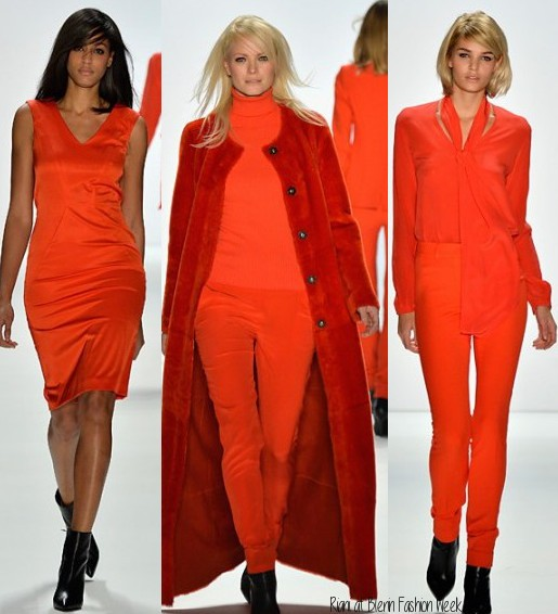 orange is the new black, riani fall 2014, berlin fashion week, fashion trends