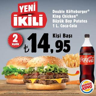burger king paket servis kampanyaları ve fırsatları 2020