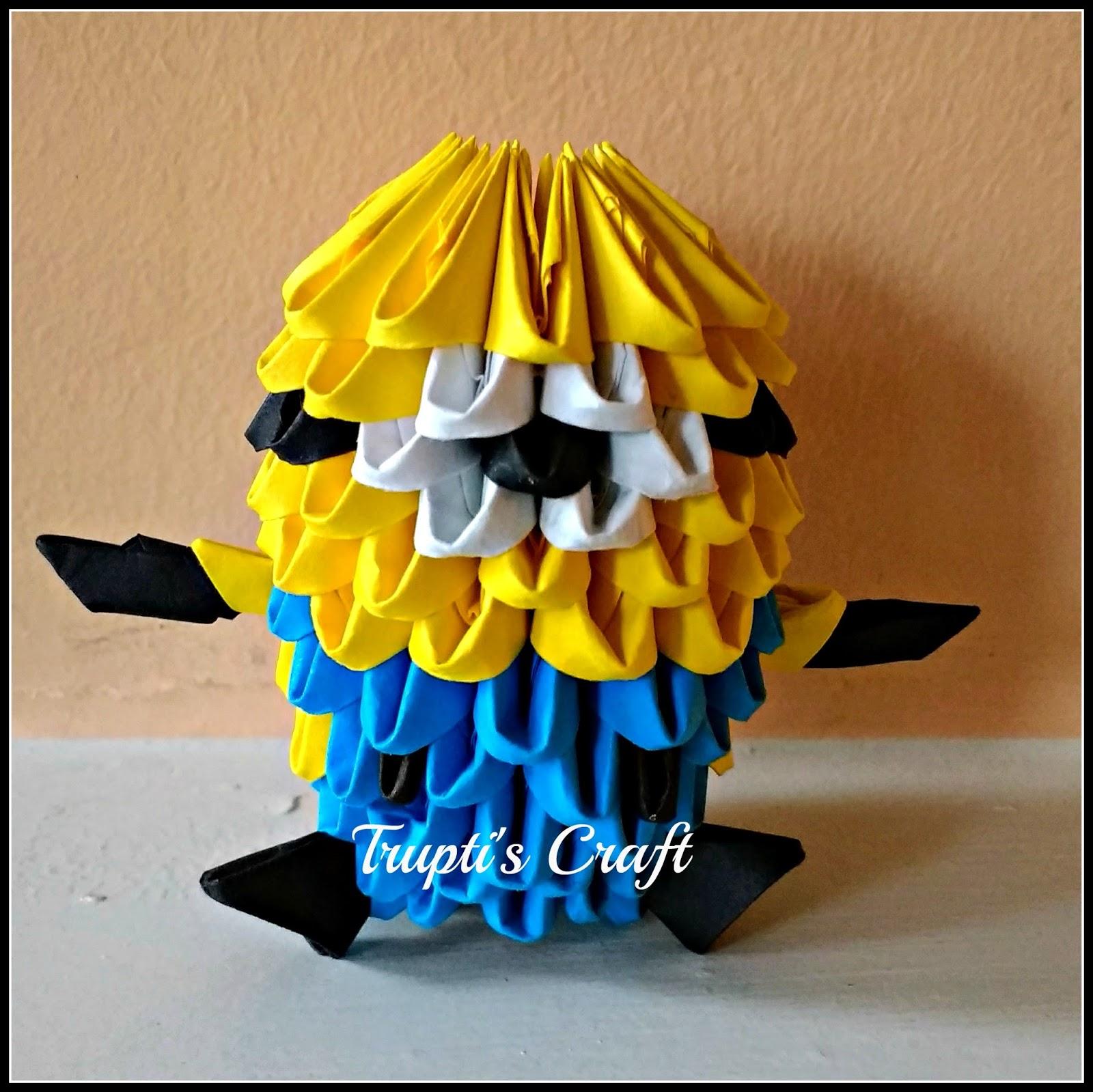 3D Origami Mini Minion
