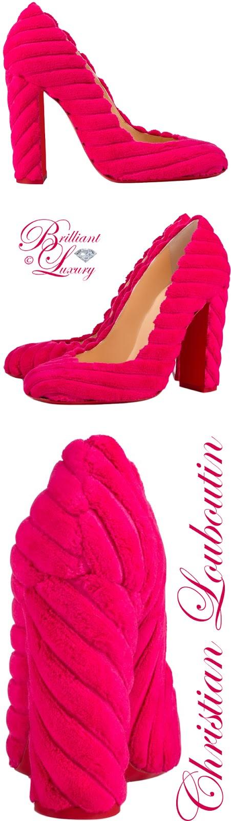 Brilliant Luxury ♦ Christian Louboutin Cadrilla Ultra Rose Velvet Pump