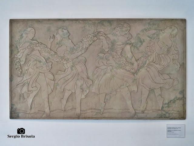 Close-up da Obra Dançarinas com Guirlanda de Flores - Palácio dos Bandeirantes - Morumbi