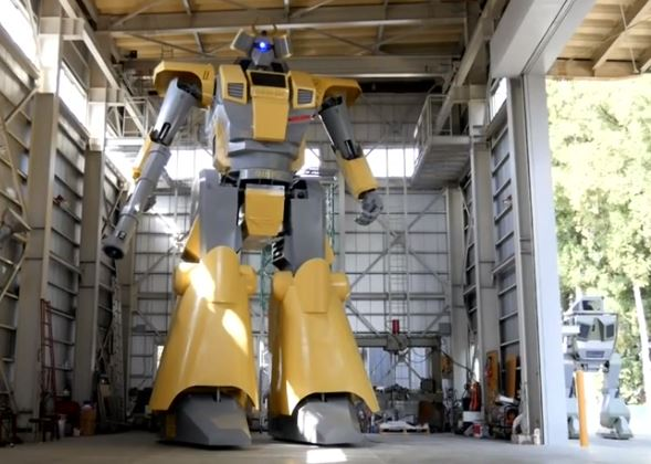 Japanese engineer builds giant robot to realize