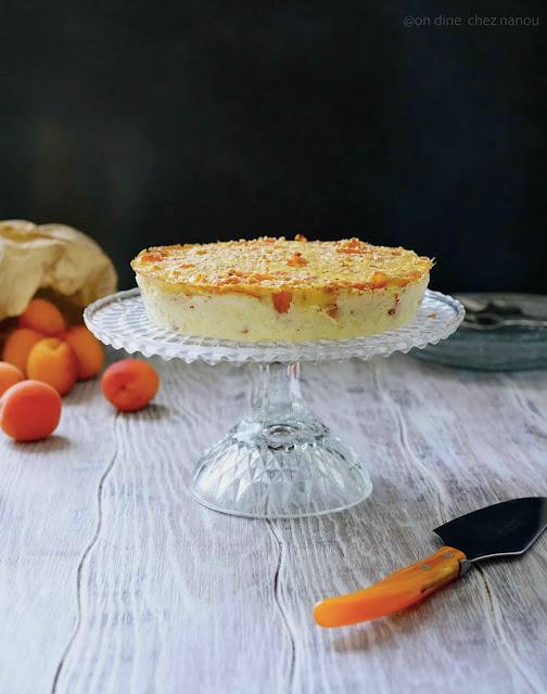 ricotta , lait concentré sucré Regilait , abricot , dessert léger