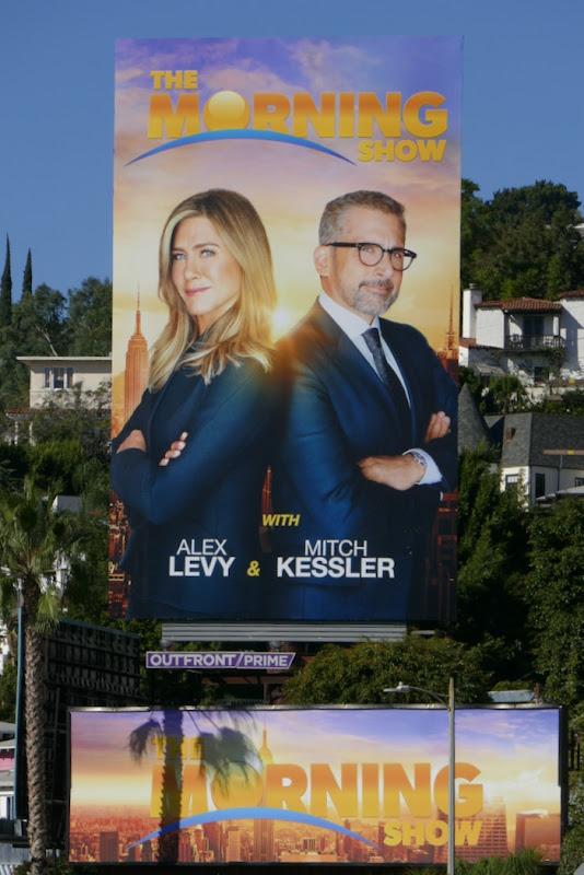Morning Show Jennifer Aniston Steve Carell billboard