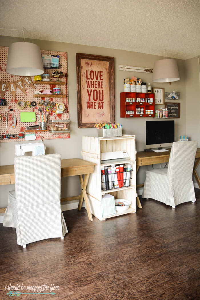 i should be mopping the floor: Vintage Craft Room Organization