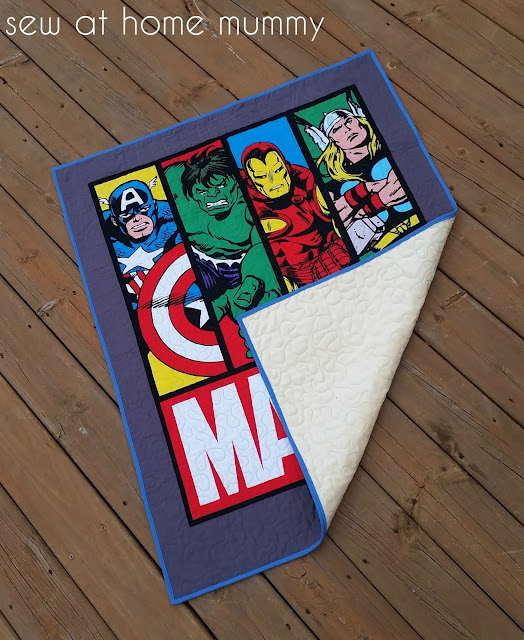 Marvel Boy's Quilt Blanket | Sew at Home Mummy | Quilt Panel | Super Hero Quilt