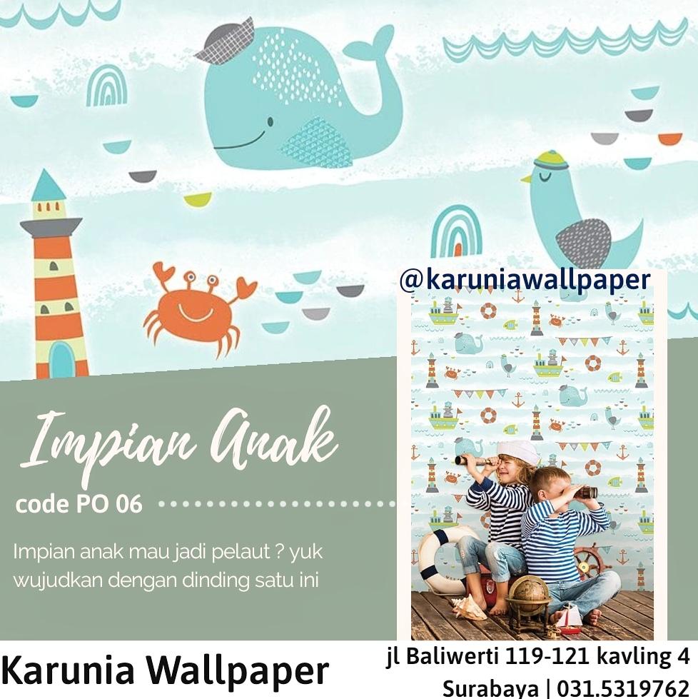 jual dinding wallpaper ikan